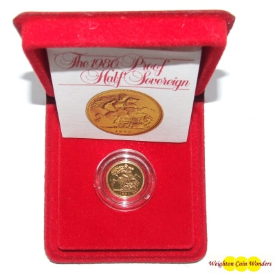 1980 Gold Proof 1/2 Sovereign